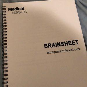 Nursing multi patient brainsheet notebook